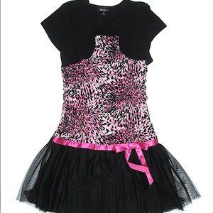 Amy Byer Pink Leopard Print Dress